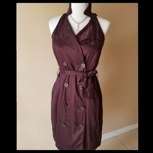 NWT ANN TAYLOR BURGENDY DRESS